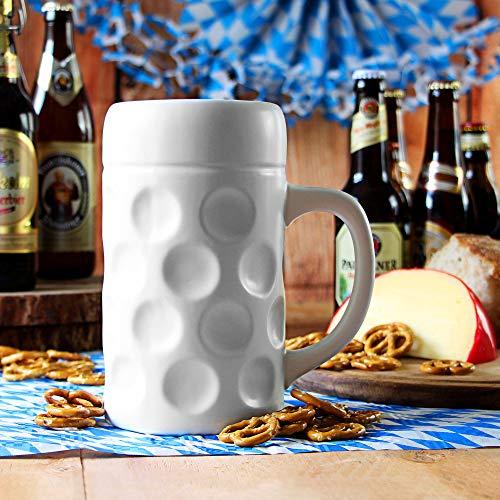 bar@drinkstuff Bierkrug München mit Griff, Keramik, 1 l