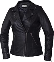 unik Derringer Series Ladies Lambskin Crossover Lapel Jacket