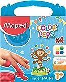 Maped Color'Peps 4 Pots de Peinture Doigt pour Bébé et Enfant dès 1 an - Gouache...