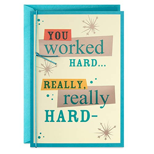 Hallmark Congratulations Card (You Worked Hard)