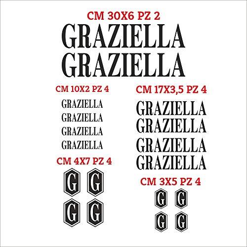 Set Adesivi Graziella Tagliati Singolarmente Stickers Compatibili Kit Decalcomanie Personalizza Colore