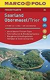 MARCO POLO Freizeitkarte Saarland, Obermosel, Trier: Toeristische kaart 1:115 000