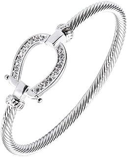 elegant silver bracelet swarovski stones for women