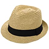 Comhats Infant Toddler Straw Fedora Sun Hat