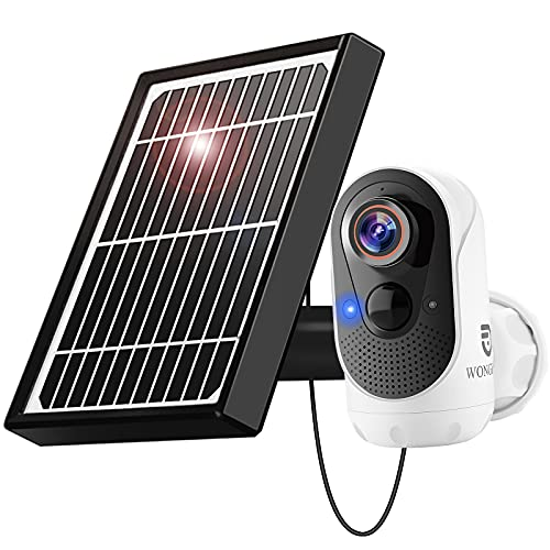 WONGKUO Solar Security Camera Outdoor Wireless - WiFi Rechargeable Battery...