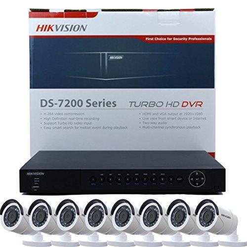 HIkvision DS-7216HUHI-F2/N Turbo HD DVR 4K TVI - Soporte para Almacenamiento en Nube (16 Canales), Color Negro