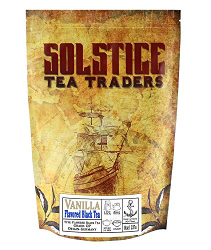 Loose Leaf Vanilla Black Tea (8-Ounce Bulk Bag); Makes 100+ Cups of Tea