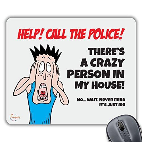 CP069 Help! Bel de politie Nieuwigheid Gift Gedrukt PC Laptop Computer Mouse Mat Pad