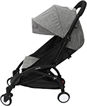 Baby Stroller Accessories Fit for Babyzen Yoyo Canopy and Seat Pad Liners for Yoya (Ma Grey)