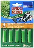 Parodi&Parodi Lindo Stick Deodorante Aspirapolvere Pino 5 Pezzi, Tessuto, Verde, 11x17x1 cm, 5 unità