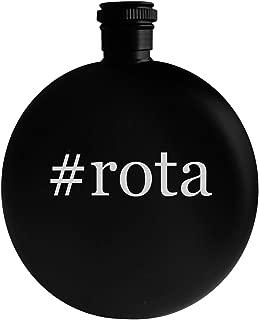 #rota - 5oz Hashtag Round Alcohol Drinking Flask, Black