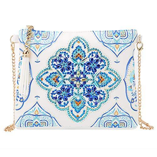 Mini Crossbody Handbag DIY Special Shaped Diamond Painting Leather Crossbody Bag Chain Makeup Bags Mosaic Making Art Craft Gifts