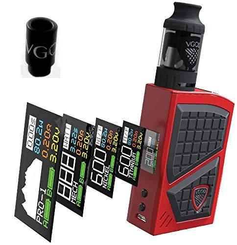 VGOD PRO 200 Kit 200W Kit ROT inkl. Pro SubTank 5ml Verdampfer Elektronische Zigaretten + Drip Tip Vgod KEIN NIKOTIN