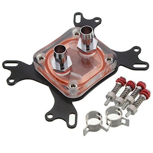 Blocco di raffreddamento per CPU, 50mm, base in rame, con canale interno di raffreddamento
