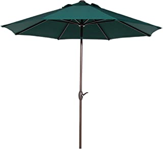 Abba Patio Sunbrella Patio Umbrella 9 Feet Outdoor Market Table Umbrella with Auto Tilt and Crank, Canvas Forest Green