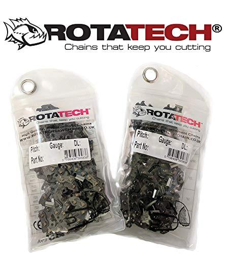 """PC40 16/"""" 40 cm 57 X2 Genuine rotatech Tronçonneuse Scie Chaînes Compatible Qualcast GCS400"""