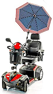 Patriotic Umbrella Holder Assembly J215 Sun and Rain Protection for Many Scooters, Power Chairs, Walkers & wheelchairs