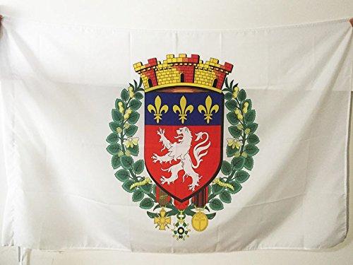 AZ FLAG Bandera de la Ciudad DE Lyon 90x60cm para Palo - Bandera LIONESA - RODANO 60 x 90 cm
