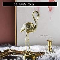 彫刻彫像置物収集可能な置物置物動物北欧スタイルクリエイティブゴールドアーツ彫刻豪華な動物像樹脂クラフト家の装飾Bi