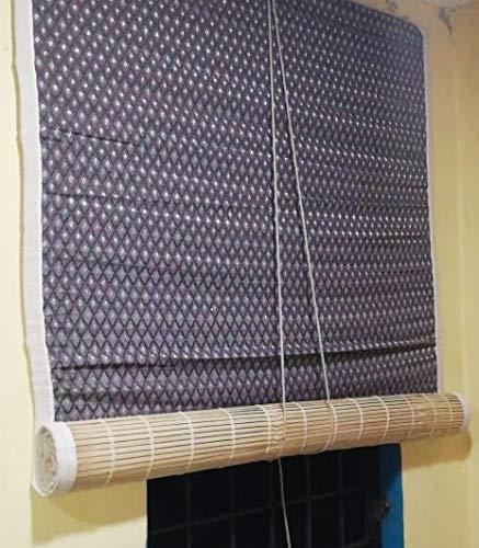 TCLPVC Bamboo Blind Chick Window CloserCurtain (4 Sizes) Natutal Range… (W4/H7)