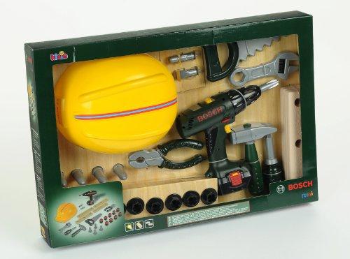 Klein - 8418 - Jeu d'imitation - Grand set outils Bosch avec visseuse et casque de travail
