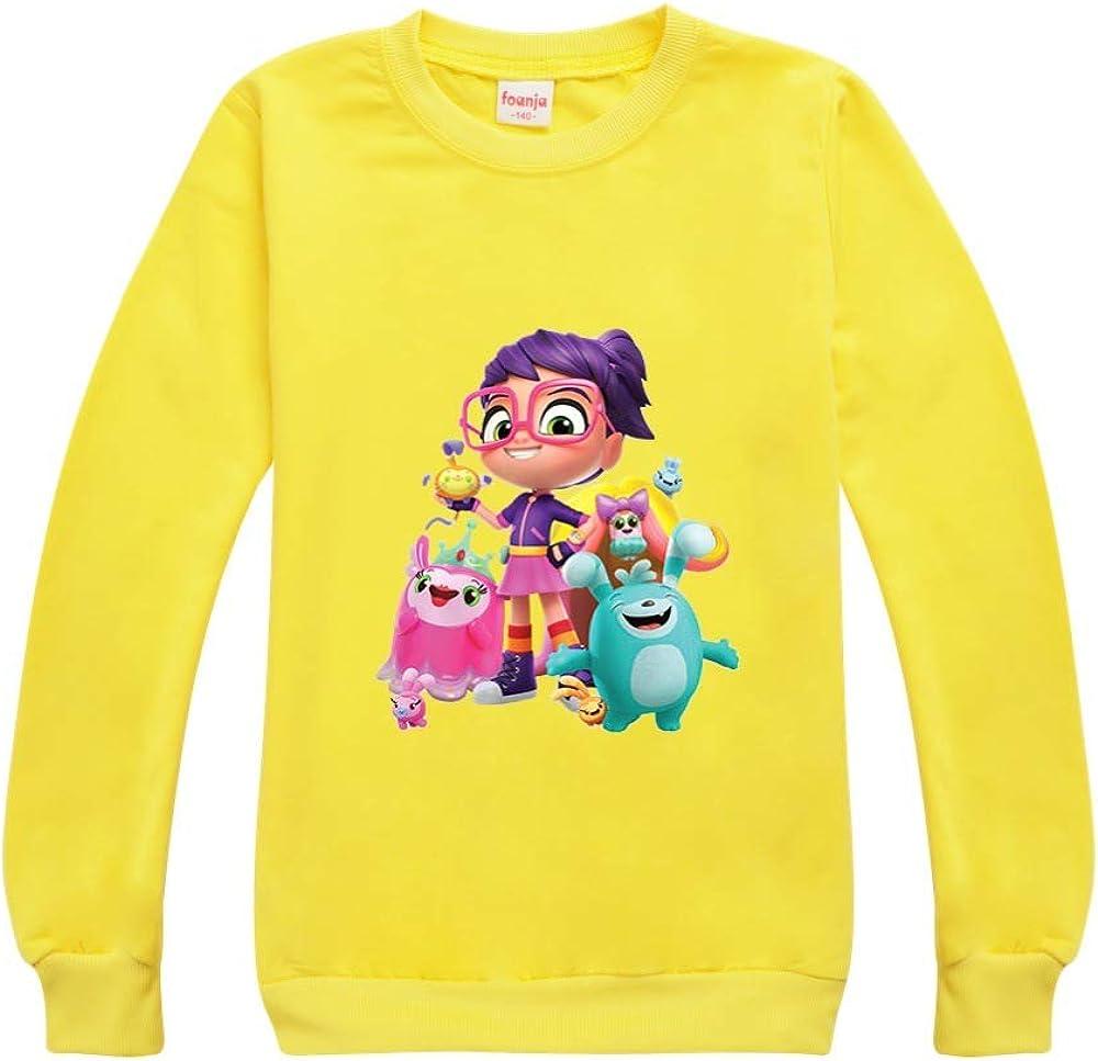 JIAQUN Girls and Boys Abby Hatcher Long Sleeve Sweatshirt Outdoor Sport Sweatshirt Unisex Kids Clothes Outerwear