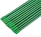 ZJIA 2.5 Ft Garden Stakes Fiberglass Plant Stakes Sturdy Tomato Stakes, Pack of 20