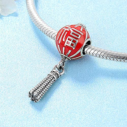 Charm Kralen,925 Sterling Zilver Zegen Lantaarn Emaille Kralen Dames Accessoires Trends Originele Charms Armband Sieraden