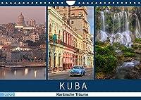 Kuba, karibische Traeume (Wandkalender 2022 DIN A4 quer): Karibisches Lebensflair zwischen Kolonialhaeusern, Zigarren und Oldtimern (Monatskalender, 14 Seiten )