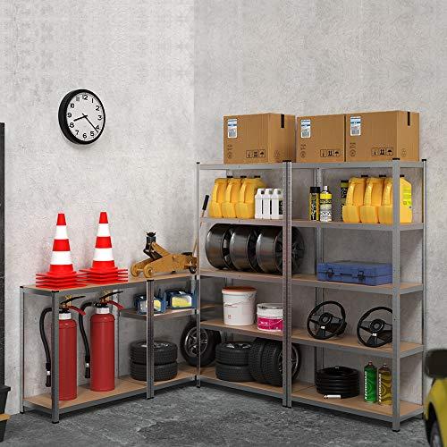 2x Regal Lagerregal Kellerregal Steckregal Werkstattregal Schwerlastregal 875kg - 2