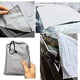 Guilty Gadgets Protector de pantalla magnético para parabrisas de coche, protección contra la nieve, polvo y sol