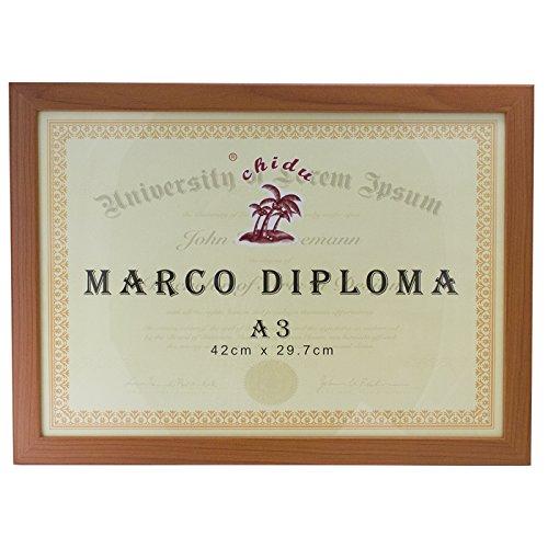 Chidu Marco marrón para Diploma A3 de 29