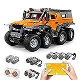FYHCY Technic Avtoros Shaman Juego de construcción Todoterreno de 8 x 8 ATV, Juego de construcción de camión Todoterreno RC 2.4G, 2500 Bloques Technic y 8 Motores compatibles con Lego