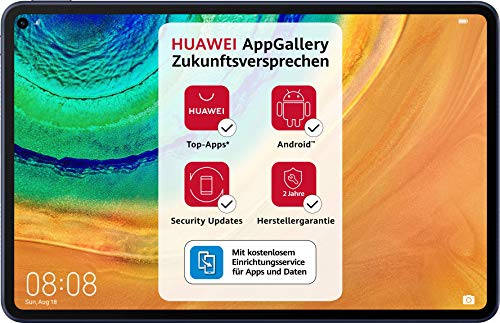 HUAWEI MatePad Pro Wifi Tablet-PC, 10,8 Zoll 2.5K FullView Display, Kirin 990, Huawei Share, Wireless Charging, 4 Speaker, Android 10.0, 6 GB RAM, 128 GB ROM, ohne Google Play Store, Midnight Gray