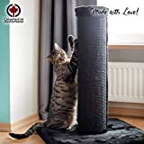 CanadianCat Company  | Scratchpost XXL | Schwarz | ca. 19cm Säulendurchmesser | große Katzen | Sisal