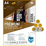 SKULLPAPER® Láminas de transferencia para tejidos oscuros (*Versión mejorada*), para impresora láser (A4-8 hojas)