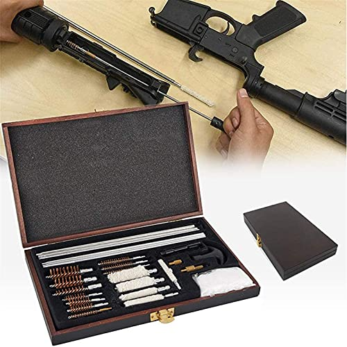 wsbdking Kit de Limpieza de Escopeta compacta, Pistola Universal Rifle Escopeta Airgun Spray Arma de Fuego Barril Mantenimiento Kit de Limpieza, Pinceles de latón, paño de Limpieza