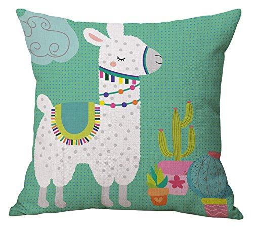 Geepro 45,7cm Rotonda Cuscino Decorativo di Cotone Lino Cute Animal Pillow Case 18 inch Lexi Myrtle