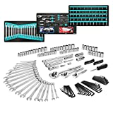 Get DURATECH 149-Piece Advanced Mechanic's Tool Set, SAE/Metric, Professional Mechanic's Hand Tool Ratchet Wrench and Socket Set, Including Combination Wrenches and Hex Key Set in Foam Trays Just for $114.99