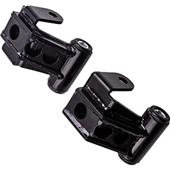 Compatible with 2002-2008 Dodge Ram 1500 w//OEM Style No-Squeak Bushings 2WD // 4WD QSA Lowering Drop Shackles