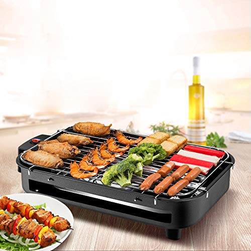 Sin humo portátil Grill eléctrico Churrasqueira Eletrica coreana tostadora giratoria Bbq equipo de motor portátil