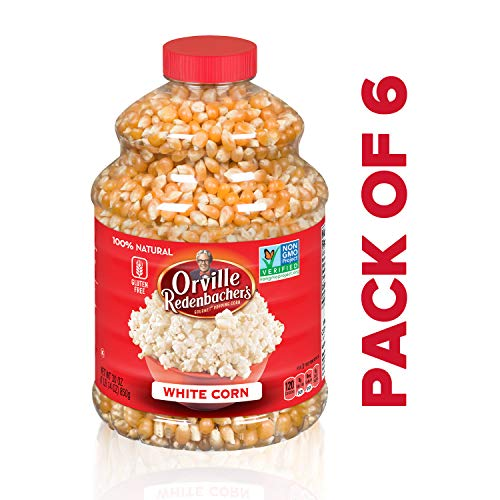 Best Deals! Orville Redenbacher's Original Gourmet White Popcorn Kernels, 30 Ounce, Pack of 6