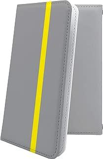 X02HT ケース 手帳型 グレー 灰色 おしゃれ エックスエイチティー 手帳型ケース かっこいい x01 ht ボーダー マルチストライプ