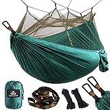 NATUREFUN Mosquitero Hamaca Ligera Viaje y Camping | 300kg de Capacidad de Carga, (275 x 140 cm) Transpirable Nylon de Paracaídas| para Jardín Interior al Aire Libre