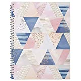 Mead Spiral Notebook, 1 Subject, College Ruled Paper, 70 Sheets, 10-1/2' x 7-1/2', Shape It Up, Design Will Vary, 1 Notebook (07152)