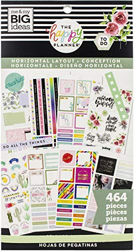 ME & MY BIG IDEAS Happy Planner STCKRS Horizontal, 464/paquete, talla única