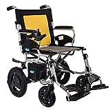 H&1 Silla de Ruedas eléctrica Patinete eléctrico, eléctrico de Aluminio para Personas Mayores, Patinete Plegable portátil para discapacitados para Personas Mayores,