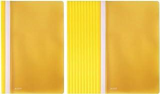 دوسية بلاستيك بدون جيوب 12 قطعة من ساسكو A4 - أصفر