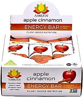 Amrita Foods - Paleo Apple Cinnamon, Gluten-Free non GMO Certified - Pack of 12 bars . Gluten-Free, Soy-Free, Dairy-Free.