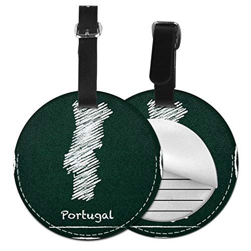 Luggage Tags Map Portugal Chalk Suitcase Luggage Tags Business Card Holder Travel Id Bag Tag